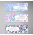 wed banners Set color elemet and square vector image vector image