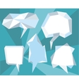 Triangular 3d bubble speech vector image