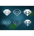 new diamond set vector image vector image