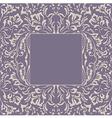 frame floral plant background vector image