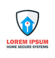 Home Security System Logo vector image vector image