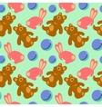 Children toys seamless retro pattern vector image vector image