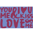 I love seamless pattern Brush and ink Calligraphy vector image