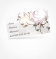 Floral Business Card vector image