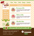 Template for dessert cafe web site vector image vector image