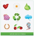 glass ecology green symbols set isolated vector image vector image