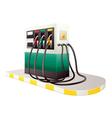 petrol dispenser unit vector image vector image