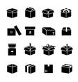 Box icons set vector image