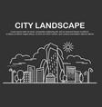 city landscape template vector image