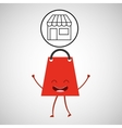 concept commerce bag gift with store vector image