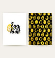 egg hunt retro posters vector image