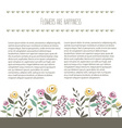 floral template in flat design style with vector image