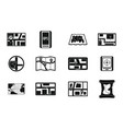 gps map icon set simple style vector image