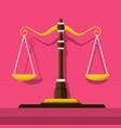 justice scale icon vector image