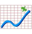 Line graph vector image