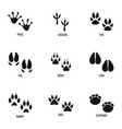 mark of the beast icons set simple style vector image