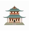 Pagoda icon cartoon style vector image