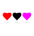 Three hearts vector image