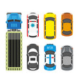 transportation means set in colors isolated on vector image