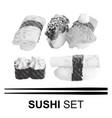 various japanese sushi vector image
