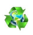 Recycling Earth vector image vector image