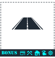 Highway icon flat vector image