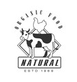 natural organic food estd 1969 logo black and vector image
