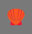 scallop sea shell sketch style realistic vector image vector image