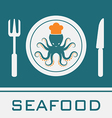Squid Fork and Knife vector image