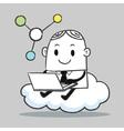 Business Man Cloud vector image