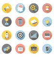 Colorful business icons flat set vector image