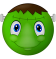 Zombie Emoticon smiley vector image