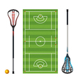 Lacrosse Field Equipment Ball vector image