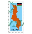 mail to-from Malawi vector image vector image