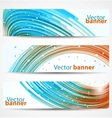 Abstract banners or headers vector image