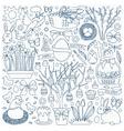 Easter doodle set vector image