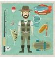Fisherman flat character vector image