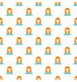 new woman avatar pattern seamless vector image