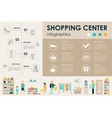 Shopping Center concept Retail infographic flat vector image