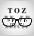 short sighted logo vector image