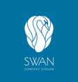 swan logo sign emblem-17 vector image