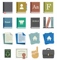 School Work Icons vector image vector image