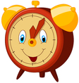 Cartoon alarm clock vector image