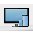 computer technology display vector image vector image
