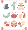 Oriental zen design elements vector image