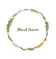 Floral frame with leaves vector image