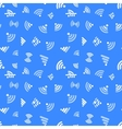 White WiFi icons on blue seamless pattern vector image