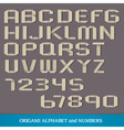 Origami Alphabet vector image vector image
