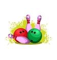 bowling club emblem vector image