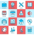Education Linear Icons vector image